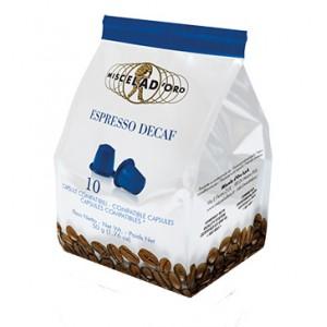 Miscela d'Oro Decaffeinato Espresso – Nespresso Capsules