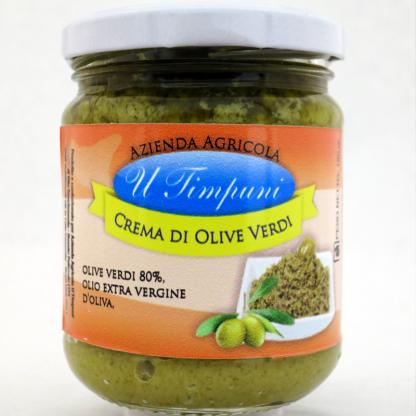 groene olijven tapenade - crema di olive verdi 180g